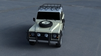 Land Rover Defender 110 Double Cab Pick Up exterior HDRI 3D Model