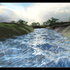 本节河流制作属于无外挂插件制作流体水流效果。