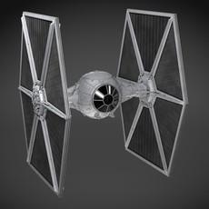 Star Wars TIE-Fighter v1 3D Model
