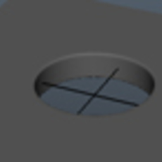 Cutting circular holes into planar meshes while maintaining good topology
