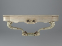 Baroque Wall Console Table 3D Model