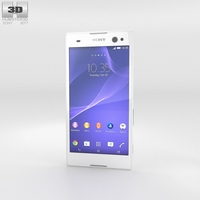 Sony Xperia C3 White 3D Model