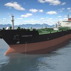 Oil Tanker Ship Evergreen State 3D Model