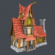 Low Poly Fairytale House 3D Model