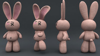 Free Toy Rigs Final(Bunny and voodoo Doll)2 Rigs In Download for Maya 2.3.5