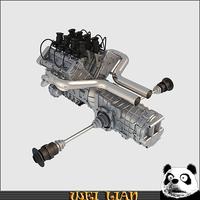 V8 engine 02 3D Model