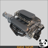 Engine 02 3D Model