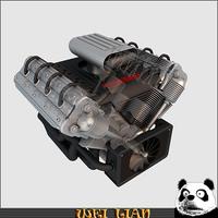 V8 engine 04 3D Model