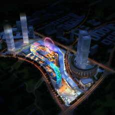 Skyscraper business center 065 3D Model
