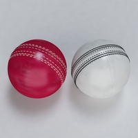 Cricket Ball Standard and Warn 3D Model