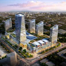 Skyscraper business center 069 3D Model