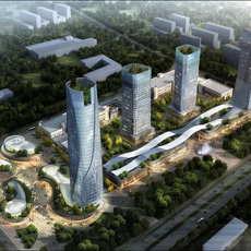 Skyscraper business center 068 3D Model