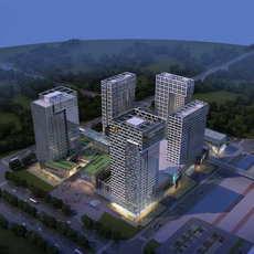 Skyscraper business center 070 3D Model