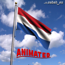 Animated Netherlands Flag 3D Model