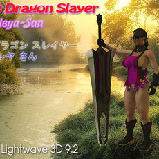 The Dragon Slayer: Cattleya-San (Comes with Rig) 3D Model