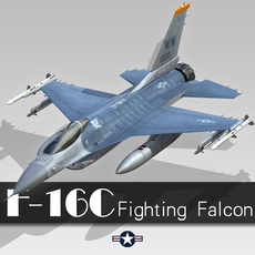 F-16C Fighting Falcon 3D Model