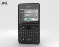 Nokia Asha 210 Black 3D Model