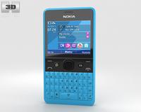Nokia Asha 210 Cyan 3D Model