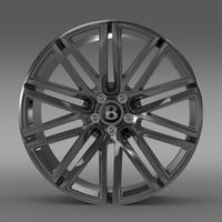 Bentley Continental GT Speed rim 3D Model