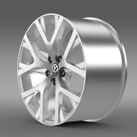 Volkswagen CrossPolo 2014 rim 3D Model