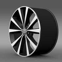 Volkswagen Polo 2014 rim 3D Model