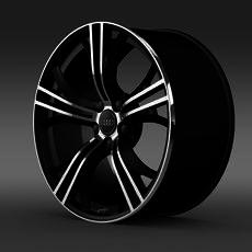 Audi R8 V10 Exclusive rim 3D Model