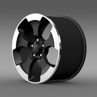 Jeep Wrangler Polar 2014 rim 3D Model