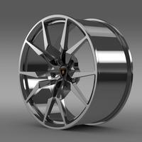 Lamborghini Aventador Roadster rim 3D Model