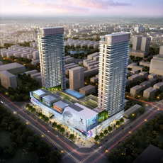 Skyscraper business center 105 3D Model