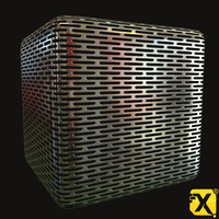 Free 4096 Chrome Peforated Heat Shield PBR textures