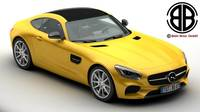 Mercedes AMG GT 2015 EU and US version 3D Model