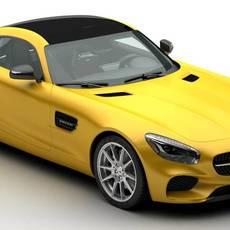 Mercedes AMG GT 2015 EU and US version 3D Model