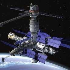MIR Space Station Complex 3D Model