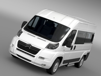 Citroen Relay Window Van L2H2 2006-2014 3D Model