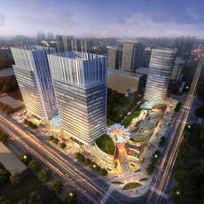 Skyscraper business center 124 3D Model
