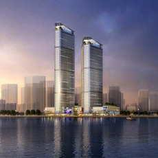 Skyscraper business center 135 3D Model