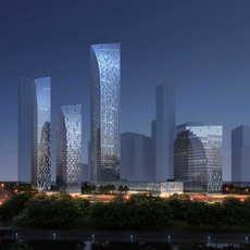 Skyscraper Office Building 033 3D Model