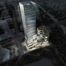 Skyscraper Office Building 041 3D Model