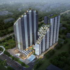 Skyscraper Office Building 042 3D Model