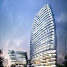 Skyscraper Office Building 046 3D Model