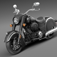 Indian Chief Dark Horse 2016 3D Model