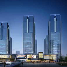 Skyscraper Office Building 048 3D Model
