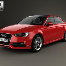 Audi A3 S line 2013 3D Model