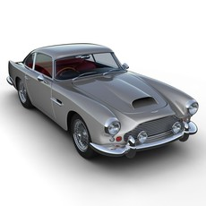 Aston Martin DB4 Sports Car 3D Model