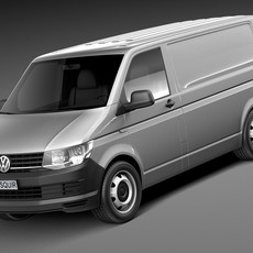 Volkswagen Transporter Panel Van T6 2016 3D Model
