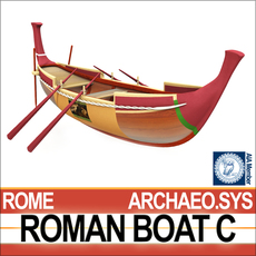 Ancient Roman Boat C 3D Model