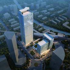 Skyscraper Office Building 063 3D Model