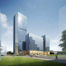 Skyscraper Office Building 065 3D Model