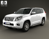 Toyota Land Cruiser Prado (J150) 5-door with HQ interior 2014 3D Model