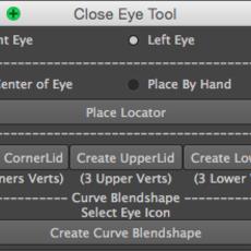 es_closeEye for Maya 1.0.2 (maya script)